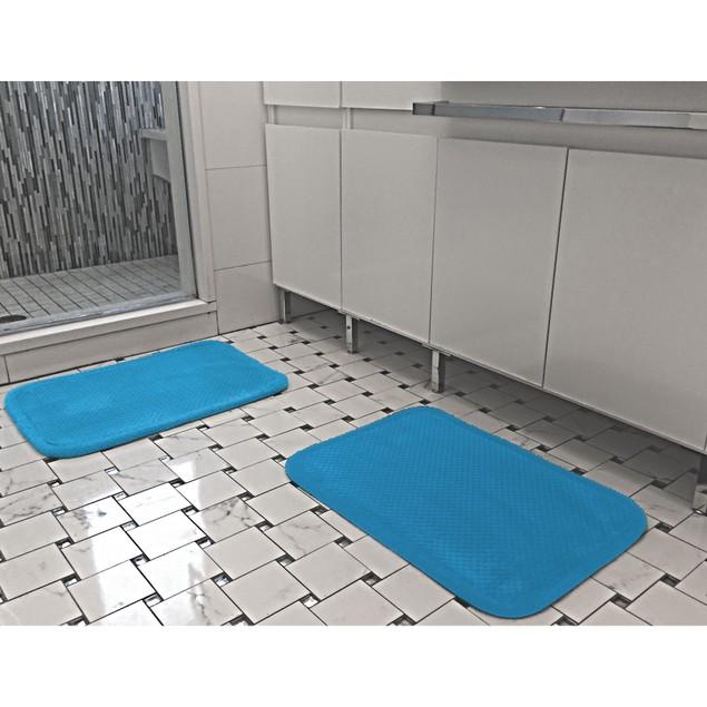 "2-Pack Ultra Soft 17"" x 24"" Memory Foam Comfort Bath Mat"