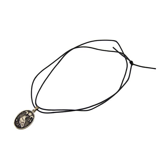 Bronze Finished Triple Moon Celtic Raven Pendant Pendant Necklaces