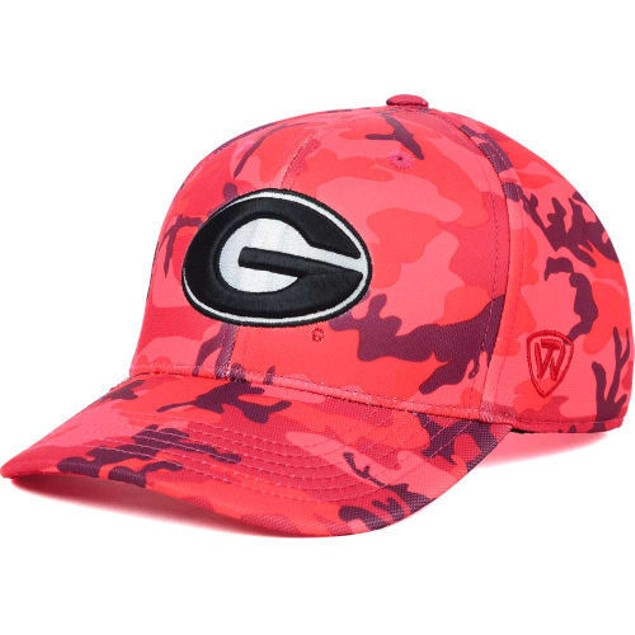 "Georgia Bulldogs NCAA TOW ""Gulf Camo"" Stretch Fitted Hat"