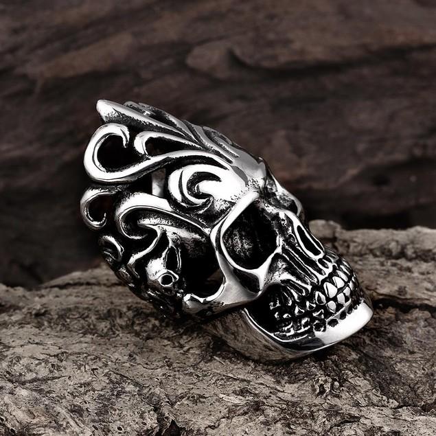 The Burning Man Stainless Steel Ring
