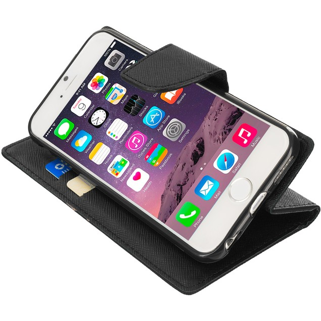Apple iPhone 6 (4.7) Wallet Flip Pouch TPU Case Cover
