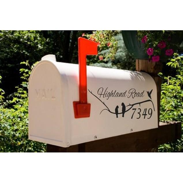 Bending Branch Birds Mailbox Decal