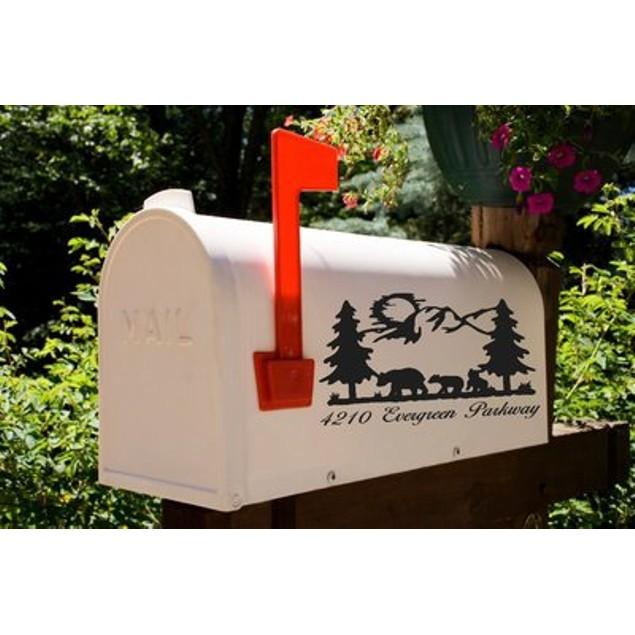Bear and Cubs Mailbox Decal