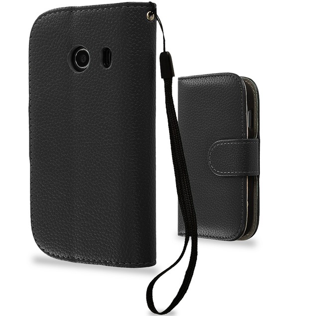 Samsung Galaxy Ace Style S765C Wallet Pouch Case Cover with Slots