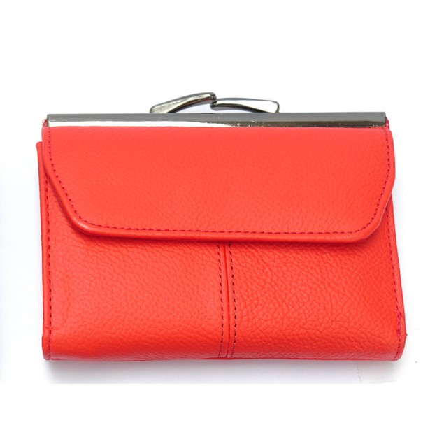 Afonie Kiss Lock Fashion Leather Wallet