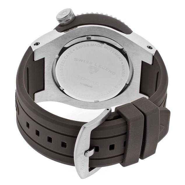 Swiss Legend Watches - Men's Neptune Grey Camouflage Dial Grey Silicone