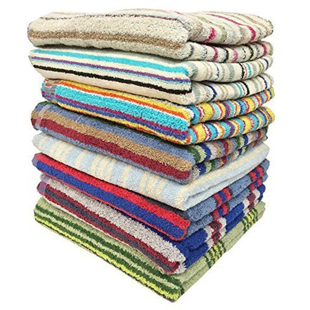 "3-Pack 28"" x 57"" 100% Cotton Bath Towels - Assorted"