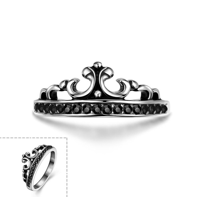 The Prince's Crown Stainless Steel Ring