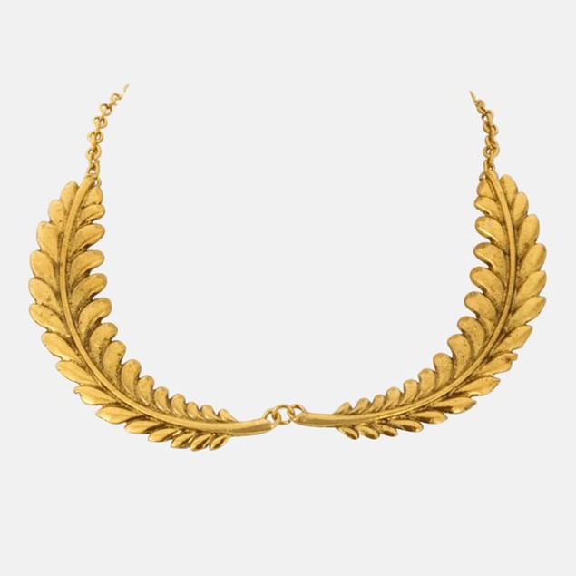 Gold Leaf Collar Necklace