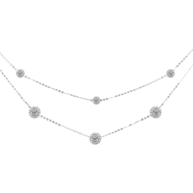 Layered Swarovski Elements Fireball Necklace