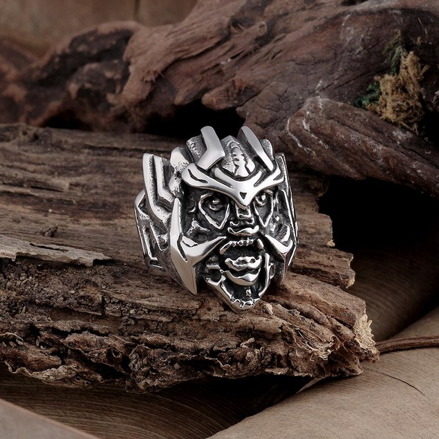 Stainless Steel Abstract Creature Ring