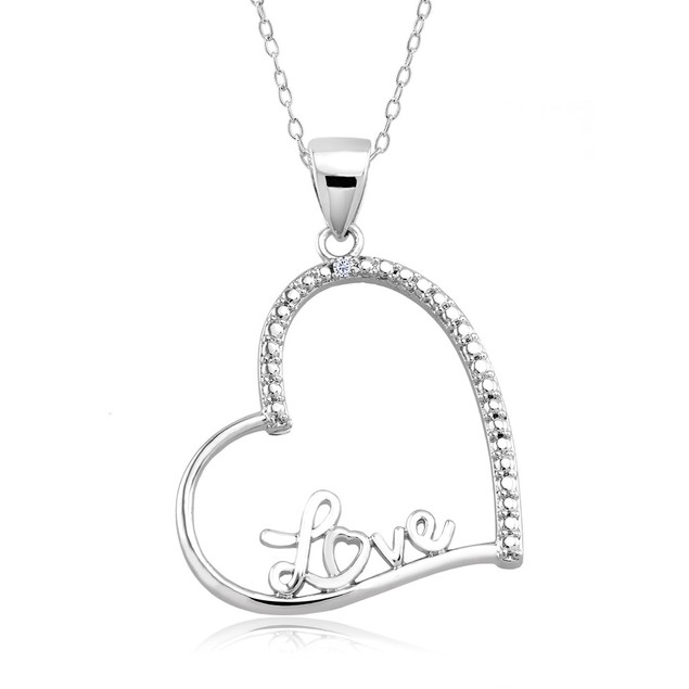 1/10 CTW Diamond Accent Necklace - Fancy Heart