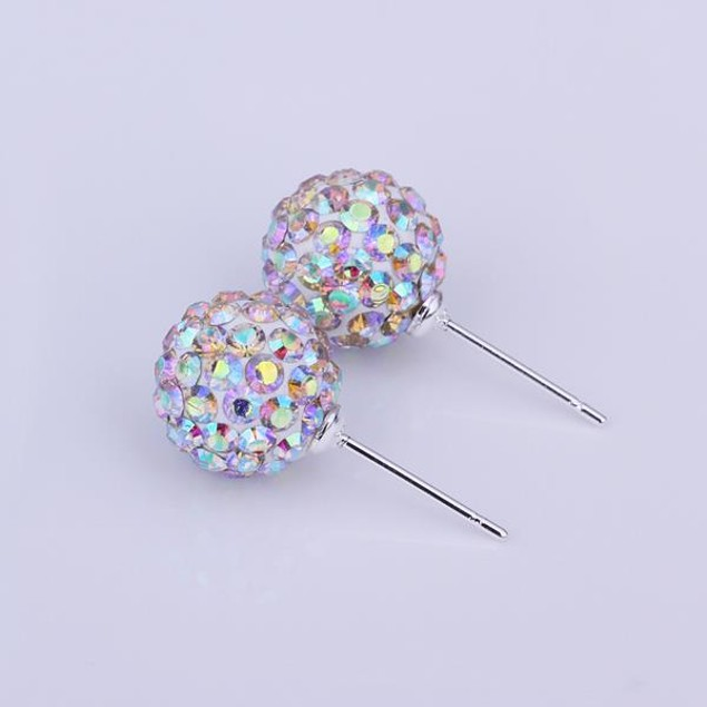 Vivid Vibrant Austrian Stone Crystal Stud Earrings