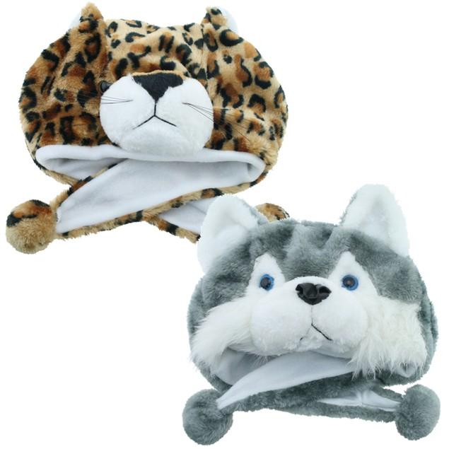 2-Pack Pugs Animal Hats