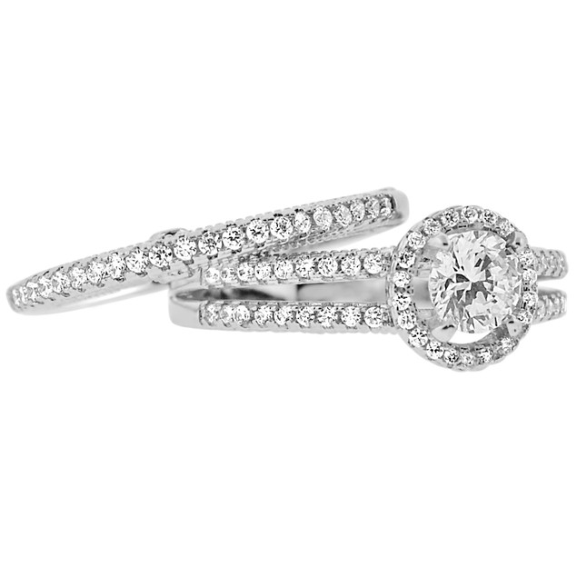 2-Piece Set: Cubic Zirconia Rings - Sally Ring