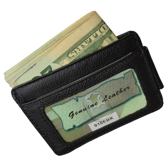 Luxuries Genuine Leather Magnetic Money Clip