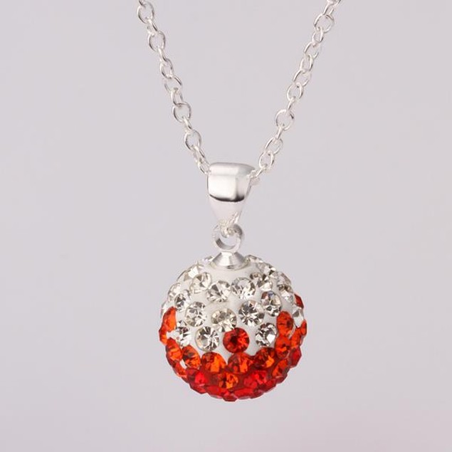 Multi-Toned Austrian Stone Necklace - Red