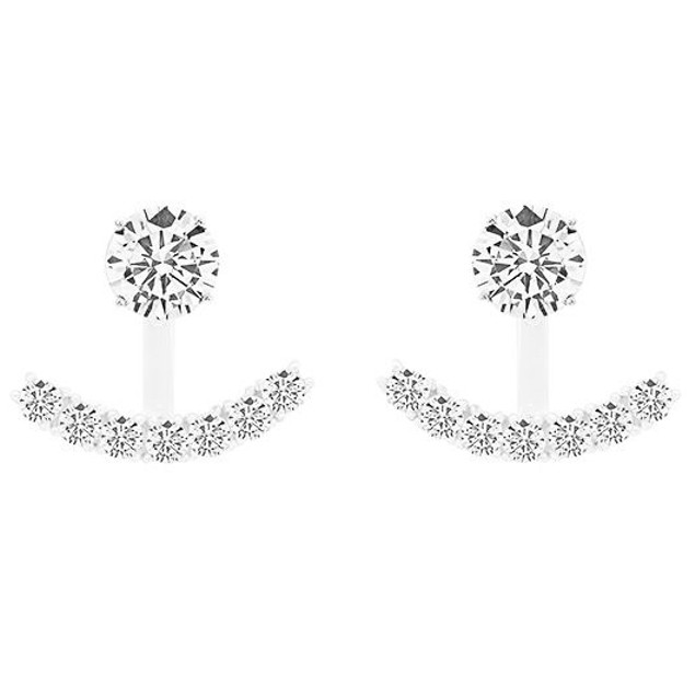 Solitaire Micro-Pave Hook Earrings