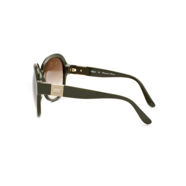 Chloe Cirse Fashion Sunglasses - Dark Green