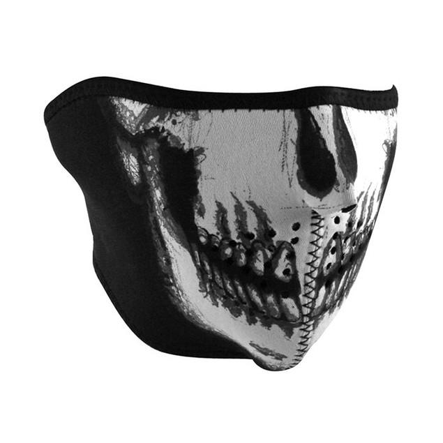 Neoprene 1/2 Face Mask - Skull Face