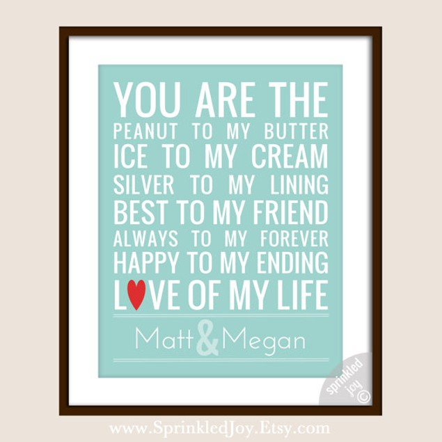 You Are the Peanut to My Butter 8x10 Print
