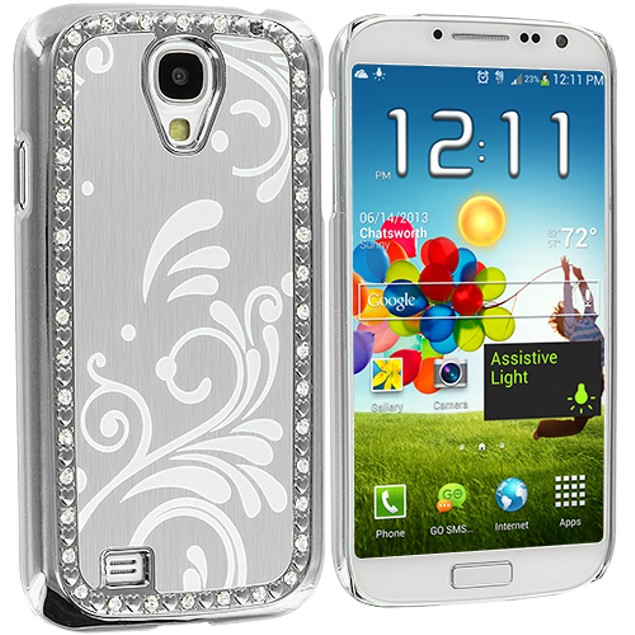 Samsung Galaxy S4 Diamond Luxury Flower Case Cover