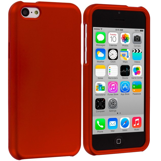 Apple iPhone 5C Hard Rubberized Case Cover