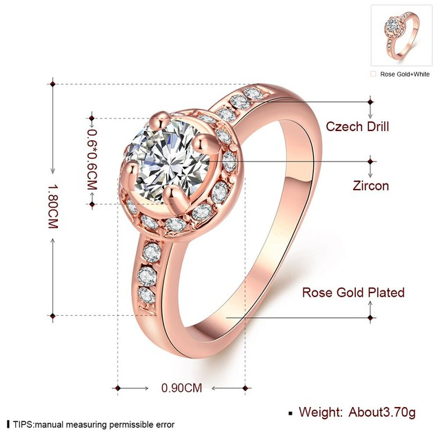 Micro-Insert Ring Rose Gold