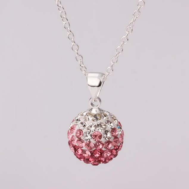 Solid Circular Shaped Necklace - Bright Coral