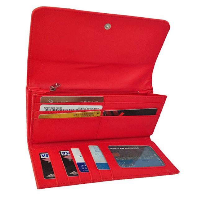 AFONiE Metallic Flap Soft Bonded Leather Wallet