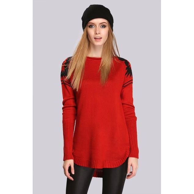 Aztec Shoulder Sweater - 5 Colors