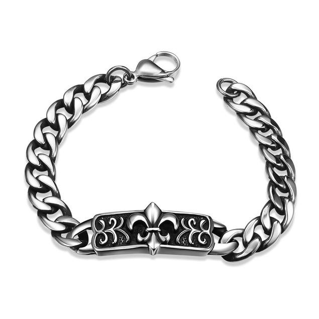 New Orleans Emblem Stainless Steel Bracelet