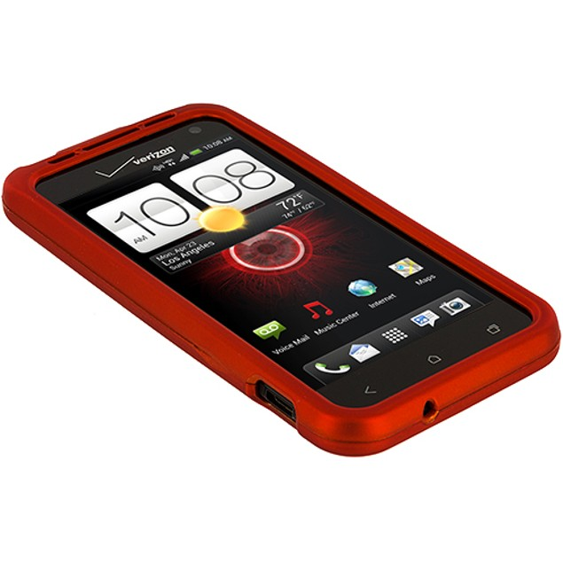 HTC Droid Incredible 4G LTE Hard Rubberized Case Cover