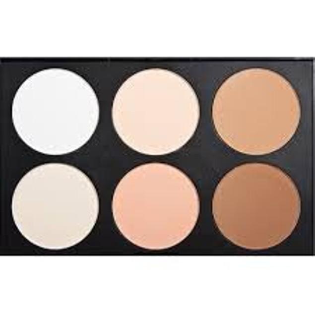 Beauty Bon® Professional 6 Colors Contour Face Powder Makeup Blush Palette
