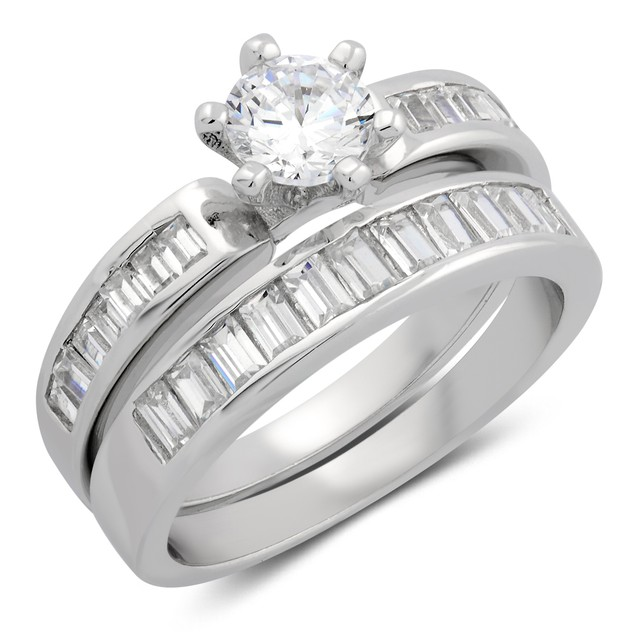 2pc Baguette Setting Ring