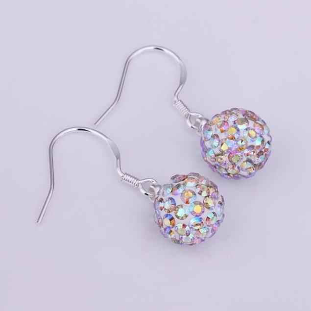 Vivid Light Austrian Stone Crystal Drop Earrings
