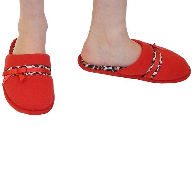 Vecceli Italy Designer Slippers - Red Leopard