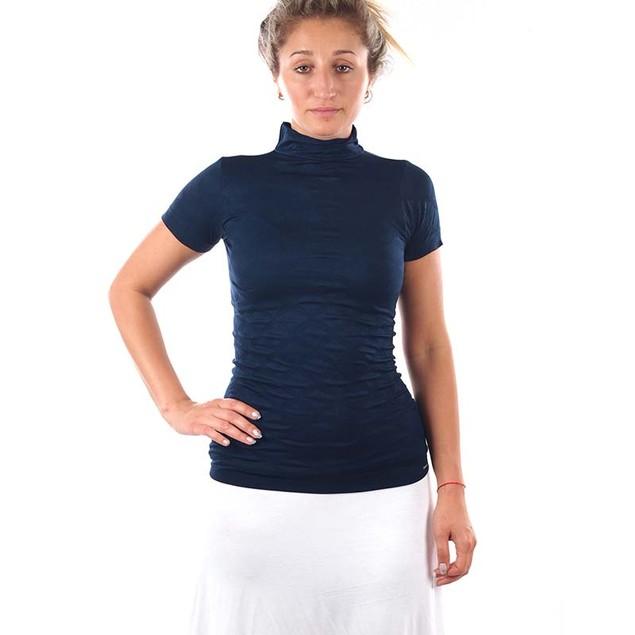 4-Pack Women's Mock Neck T-shirt