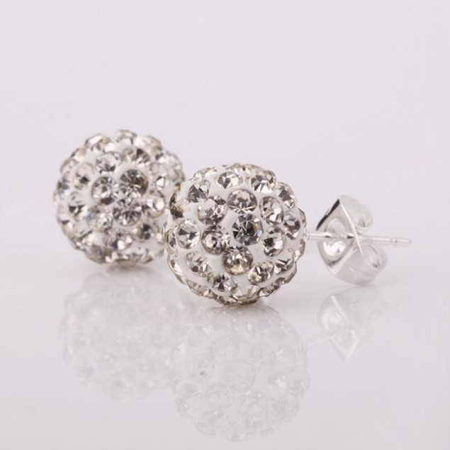 Vivid Royal Austrian Stone Crystal Stud Earrings
