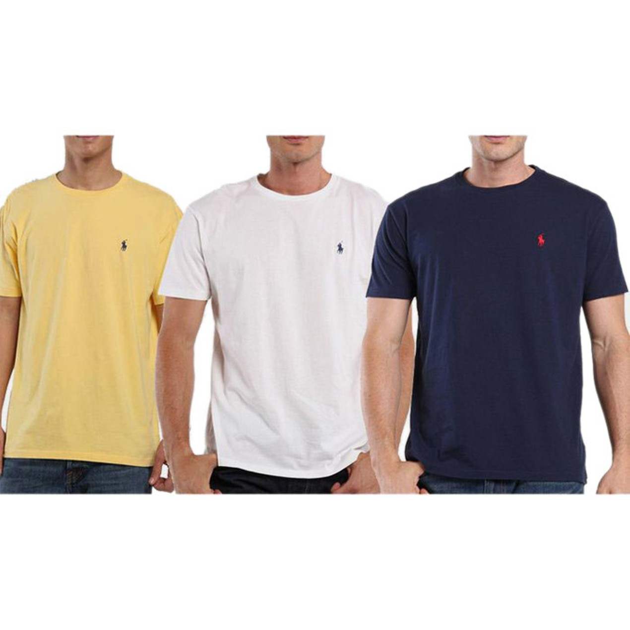 3 Pack Polo By Ralph Lauren Mens Pony Logo Classic Fit T Shirts Tanga