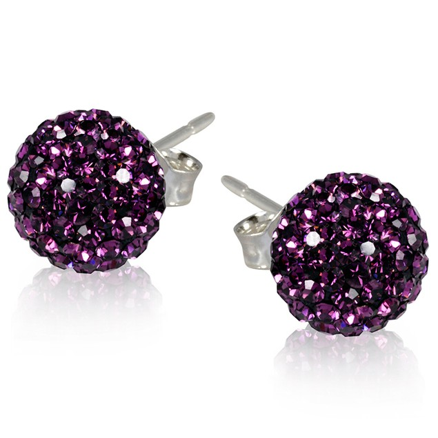 2 CT Crystal Ball Studs