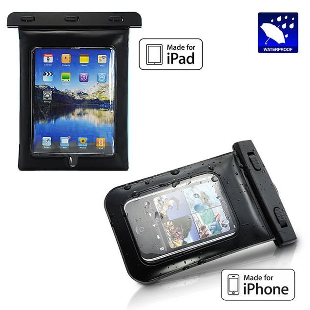 iPhone (Smartphone) or iPad (Tablet) Waterproof Cases