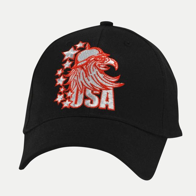 Ball Cap - Red USA Eagle