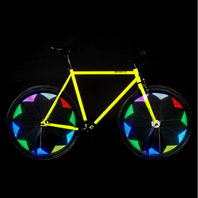 2-Pack 25 Pattern 14 LED Spoke Bike Light