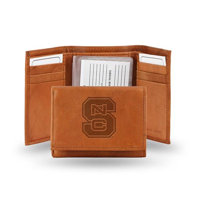 North Carolina State Leather Manmade Trifold