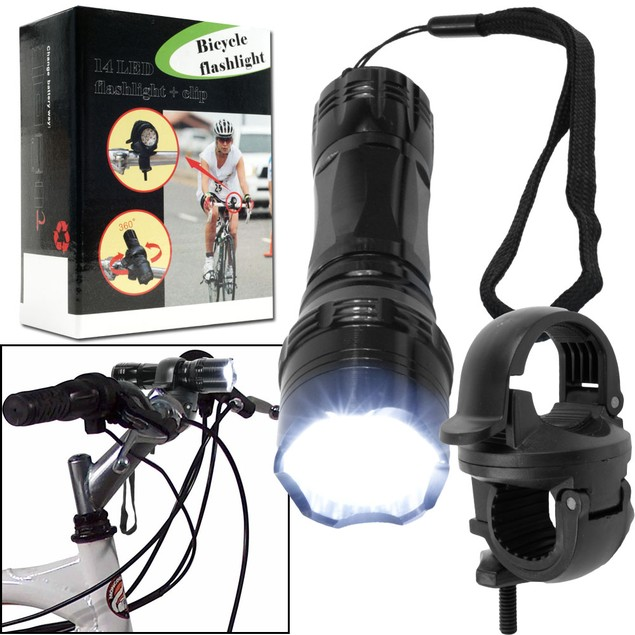 14 LED Flashlight with Bicycle Clip