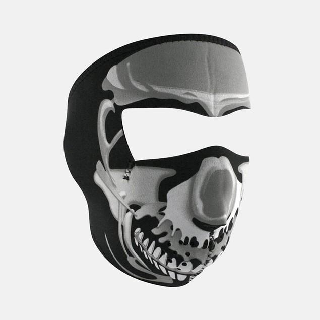 Chrome Skull Graphical Neoprene Full Face Mask