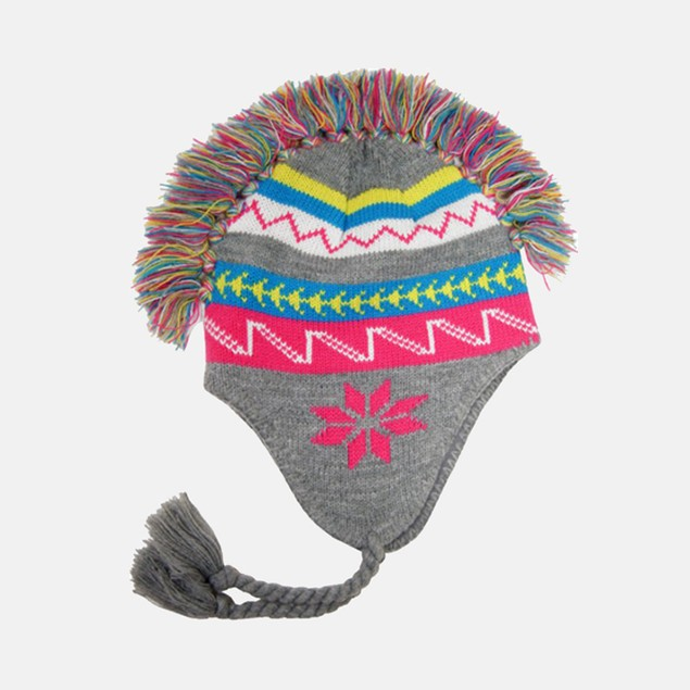 "Ladies' ""Mohawk"" 100% Acrylic Knit Flap Cap"