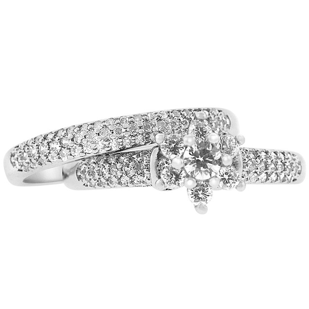 2-Piece Set: Cubic Zirconia Rings - Alise Ring