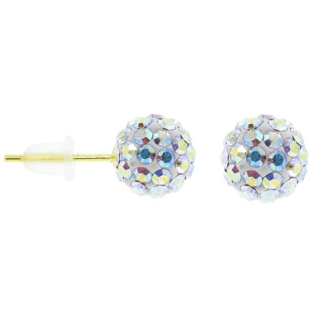 14K Gold Swarovski Elements Ball Studs